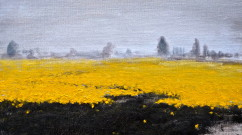 YellowFieldWithPath 11x14 oil linen copy