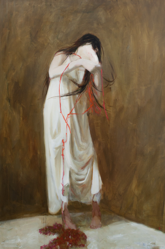 Black Painting, After Goya, Oil on linen 72x48""