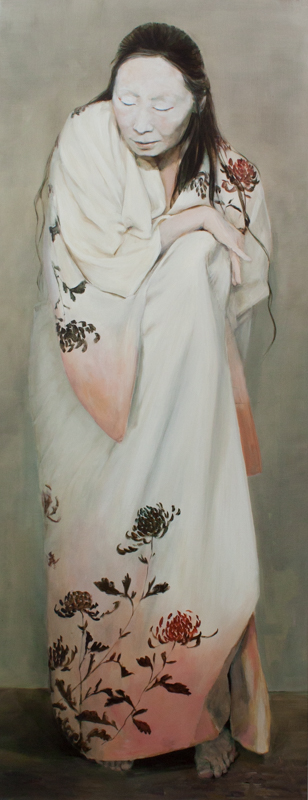 "Small, 96x37"" Oil on linen"